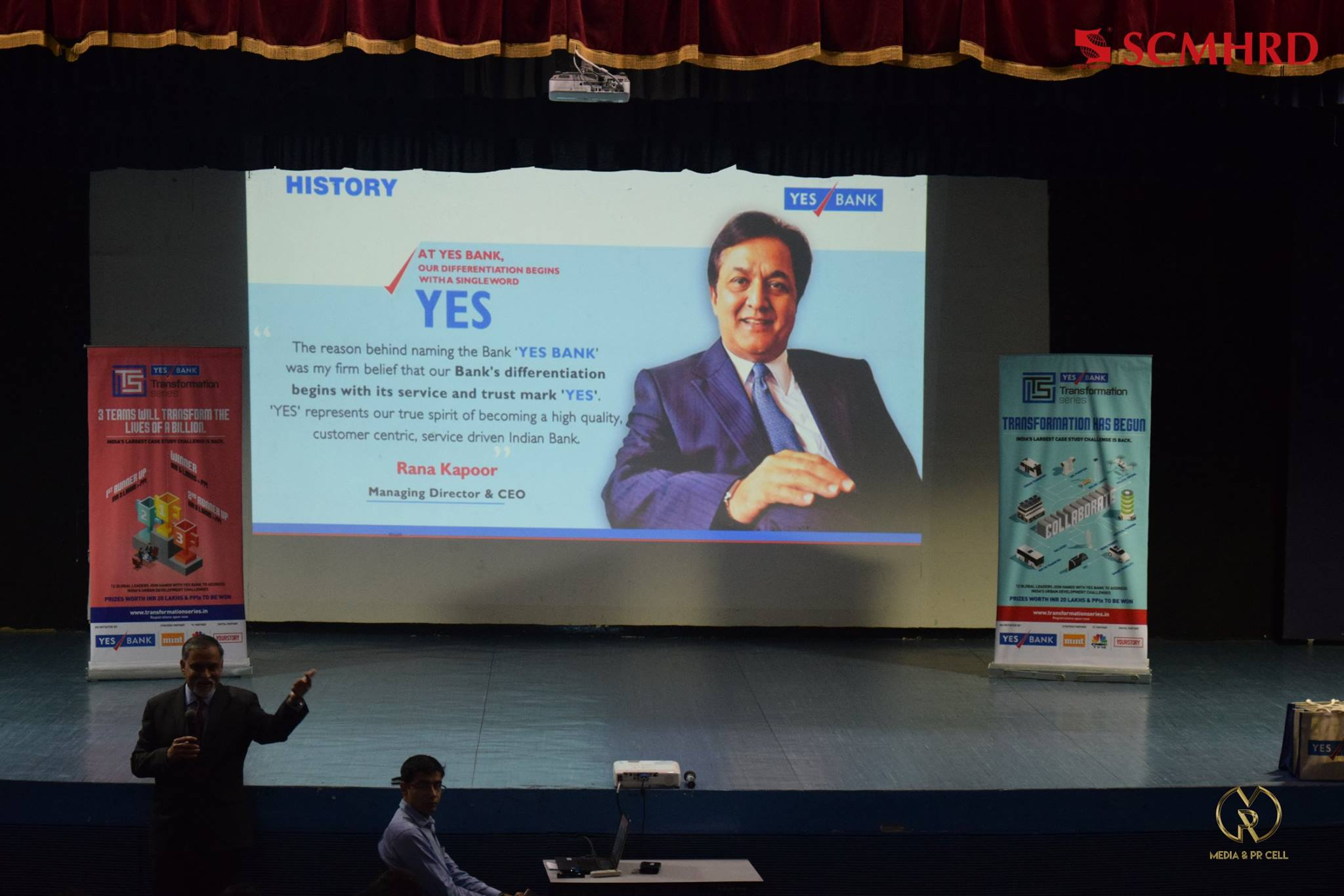 SCMHRD yes bank