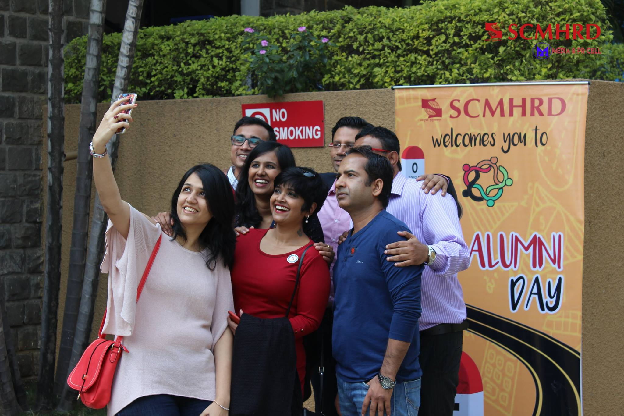 SCMHRD welcome alumni day